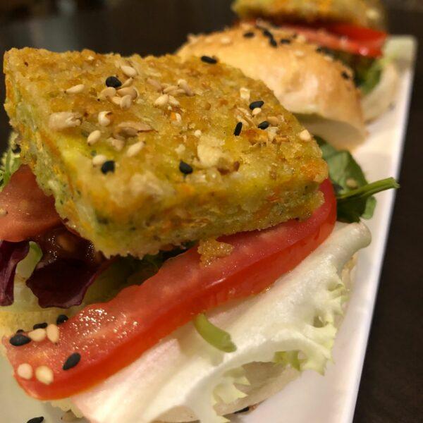 Mini burger vegana